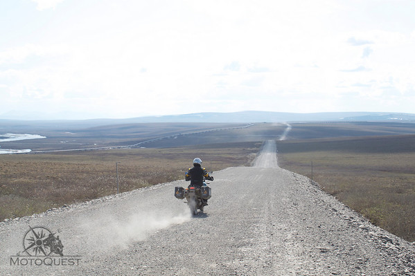 "Riding the Dalton Highway on the ""North Slope"", north of the Brooks Range"