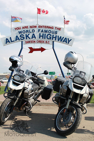 Start of the Alaska Highway
