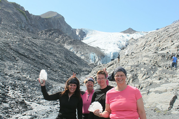Girls by Worthington Glacier