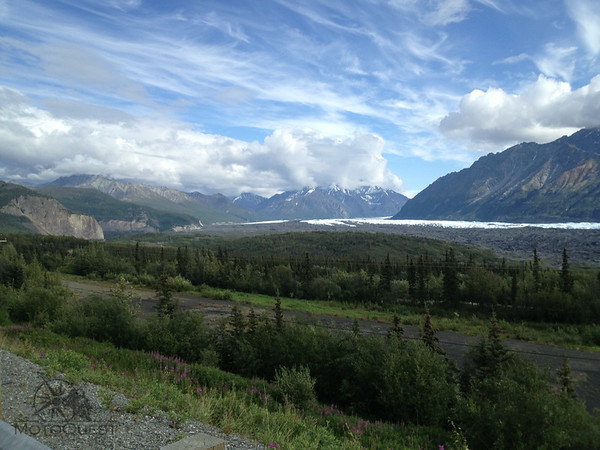 Ride scenic Glenn highway past the Matanuska Glacier