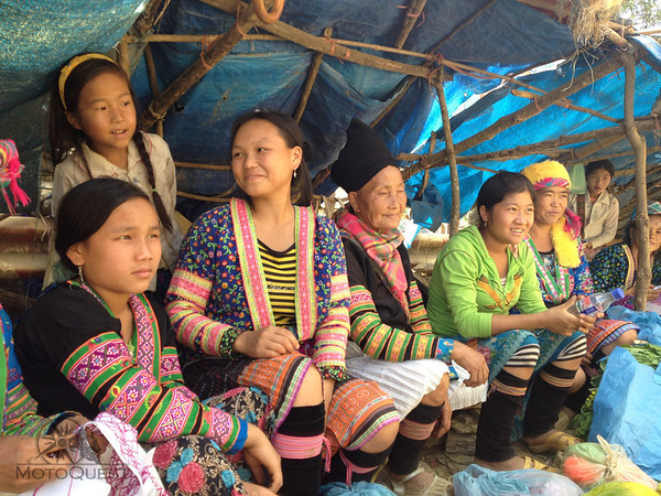 Hmong ladies at a very remote mountain market