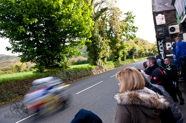 Riders race past at 180 miles an hour, and this is your Hotel, the Sulby Glen!