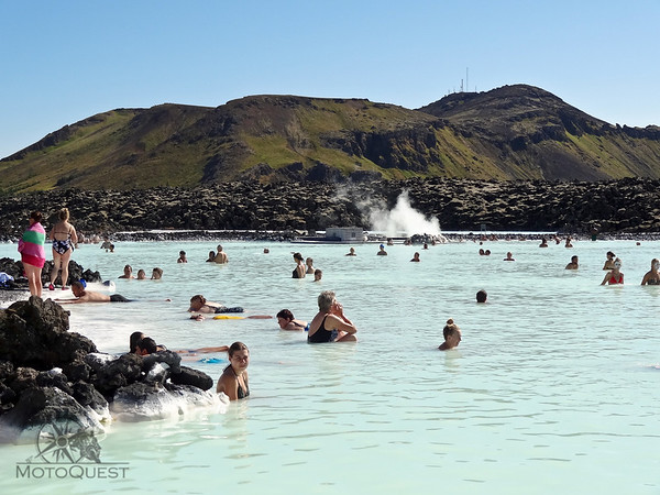 Visit the thermal hot springs The Blue Lagoon near Reykjavik